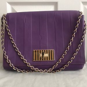Authentic Fendi Claudia Purple Leather Bag